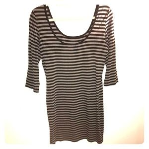 Gray/black striped dress